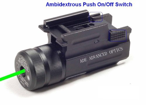 Ade-Advanced-Optics-Compact-Pistol-Green-Laser-with-Quick-Release-Weaver-Mount
