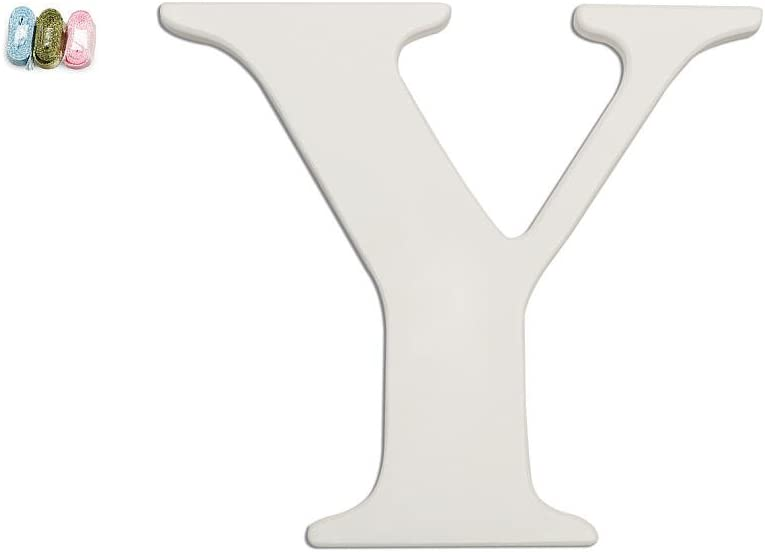BabiesRUs Y Wooden Personalizable Letter Wall Decor White