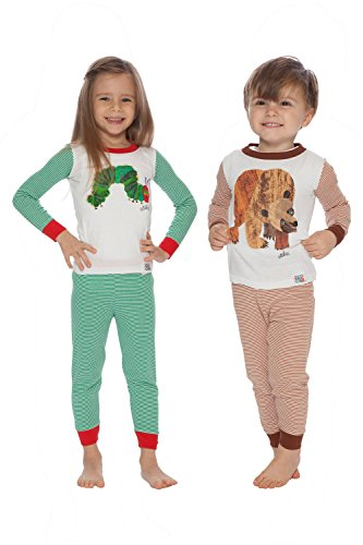 - Eric Carle Baby Infant Very Hungry Caterpillar and Brown Bear Cotton Pajama Set, Multi, 18MO
