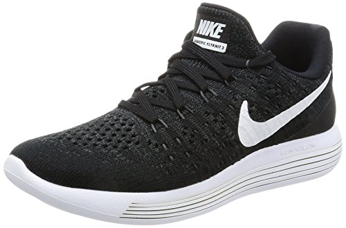 Nike Women Lunarepic Low Flyknit 2 Running (Black/White-Anthracite) Size 7.0 US