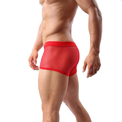 Slips Shorts Homme Red Maille À Boxers Sexy Travers Pour Amison Mode Fxq8UwU1
