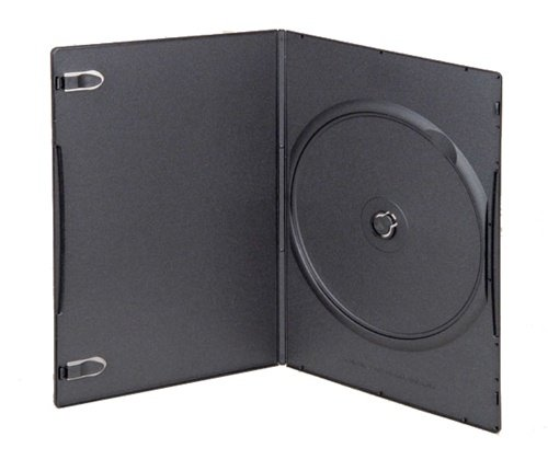 Mediaxpo Brand 50 SUPER SLIM Black Single DVD Cases (50 Black Single Slim Dvd)