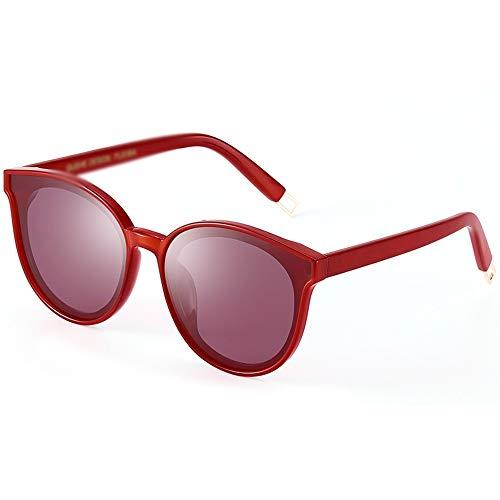 Lunettes tous résistantes personnalité de un loisirs de la au soleil shopping types polarisées visage UV 5 rayons total conduite à Pang les de piece de et féminine frame red Red transparent aux Pang couleurs à adaptées choix PHwx45qE