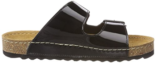 01 Silver Romika Buckle Black Sandal Patent Ontario fTxwx5