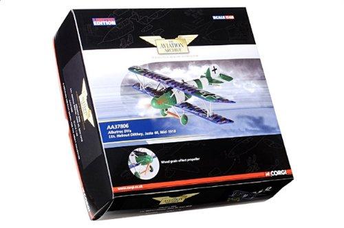 1:48 Corgi アビエーション Archive コレクター シリーズ AA37806 Albatros D.V ダイキャスト モデル Luftstreitkrafte Jasta 40 Helm