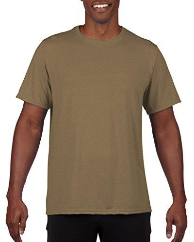 Gold Toe Men's 100% Preshrunk Cotton Crewneck T-Shirt (X-Large, Tan)