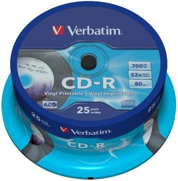 Verbatim 43710 - Pack de 25 CDs vírgenes de 700 MB: Amazon.es: Jardín
