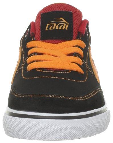 Lakai ENCINO KIDS KS1120203A00 - Zapatillas de deporte de cuero para niños Negro (BLAC ORANGE NUBUCK D0006)