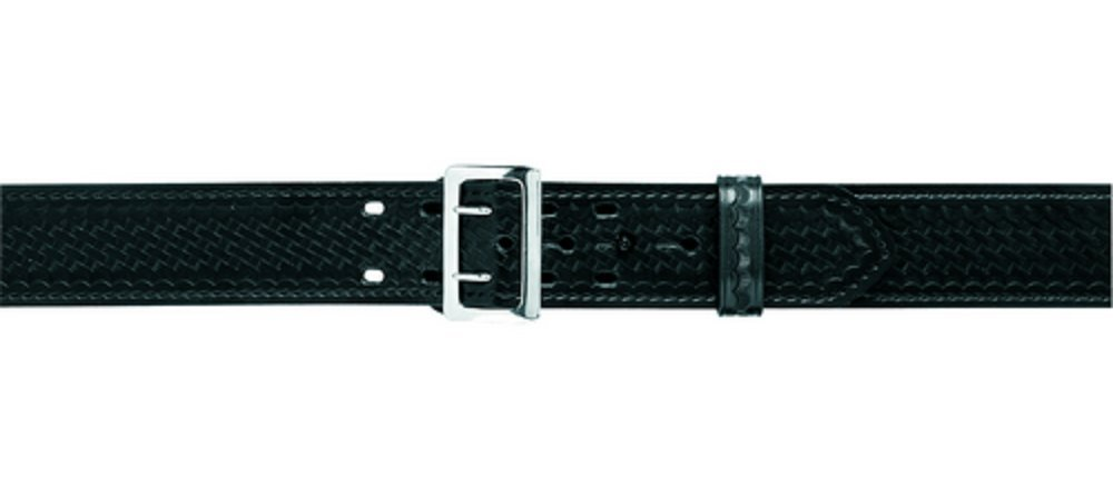 Brass Buckle High Gloss Black Size 34 Safariland 87V Duty Belt with Hook Fastener Lining