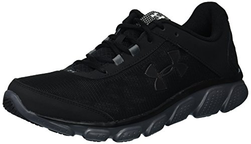 Under Armour Men's Micro G Assert 7 Running Shoe, Black (002)/Rhino Gray, 10.5 M ()