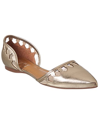 Platino Leather Footwear - French Sole Women's Volt Platino Metallic Leather 8.5 M US