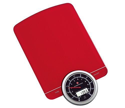 Zassenhaus M073430 Retro Kitchen Scale Digital, Red