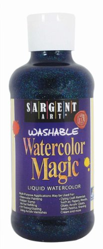 Sargent Art 22-9050 8-Ounce Glitter Watercolor Magic, Blue ()
