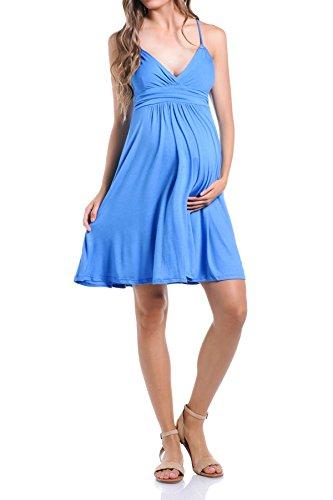 Beachcoco Women's Maternity Sweetheart Short Dress (S, Light ()