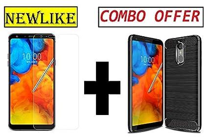 best sneakers 430b8 b5de5 Newlike LG Q Stylus/LG Q Stylus Plus Back Cover + Tempered Glass Combo Pack