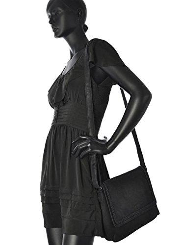 Sac Bandoulière Natural Cuir femme noir