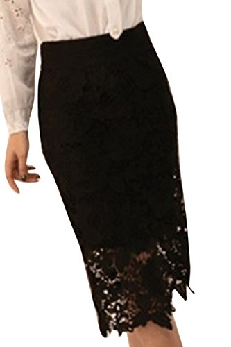 Les De Zojuyozio Taille Patchwork t Et Black Vider Taille Jupe La Haute Femmes lgant Dentelle HqqFSw