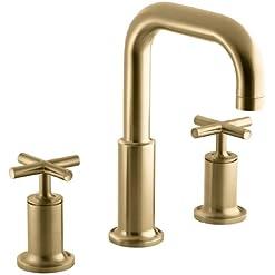 Kitchen Kohler T14428-3-BGD Tub Faucets, Vibrant Moderne Brushed Gold modern sink faucets