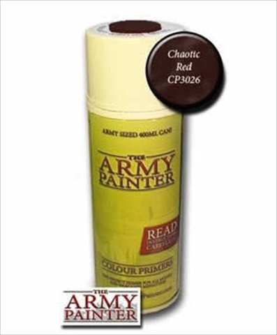 The Army Painter Chaotic Red Colour Primer 14oz Spray Can by The Army Painter