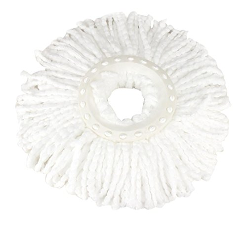 Hunpta New Replacement 360 Rotating Head Easy Magic Microfiber Spinning Floor Mop Head (White)