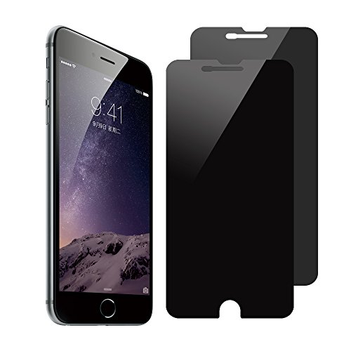 [2 Pack] SANFEEL Privacy Screen Protector Compatible with iPhone 8 Plus /7 Plus /6s Plus /6 Plus Tempered Glass Film 2-Way Anti Spy 5.5