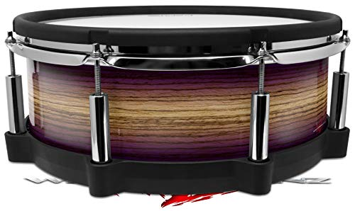 Skin Wrap Compatible with Roland PD-140DS Drum Exotic Wood Zebra Wood Burst Plum Purple (Drum NOT Included)