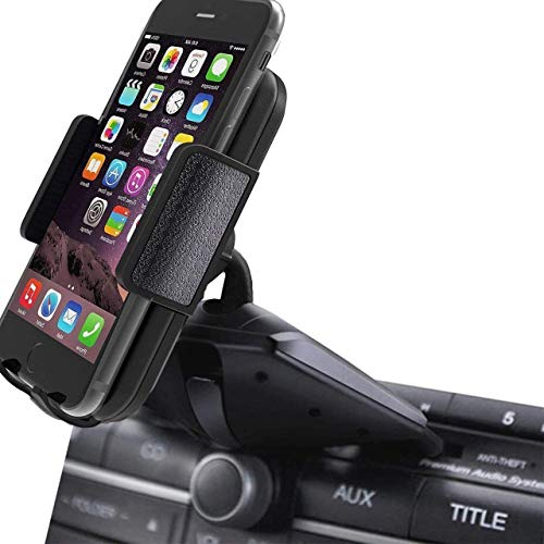 CD Slot Car Phone Mount - Universal CD Slot Phone Holder for Car Compatible iPhone X 8 Plus 7 Plus 6s 6 Plus 5S Samsung Galaxy S5 S6 S7 S8 S9 S9+ Google Huawei HTC etc - Black by YipinNuo