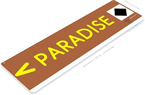 (Tinworld TIN Sign C134 Paradise Mad River Snow Ski Slope Metal Sign Skiing Cabin Resort Lodge 6