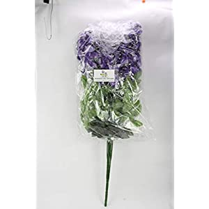 Artificial Wisteria Long Hanging Bush Flowers - 15 Stems For Home, Wedding, Restaurant and Office Decoration Arrangement 2