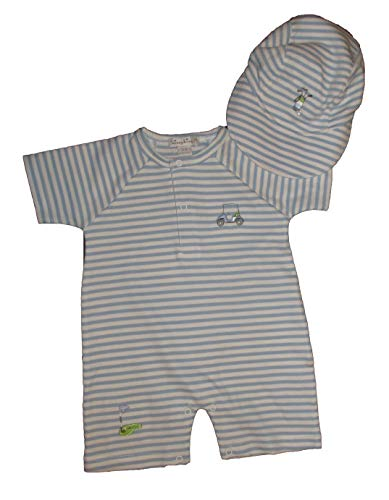 Baby Golf Golf Romper - Kissy Kissy Golf Theme Romper w/Matching Cap 3-6 Month (S15132)