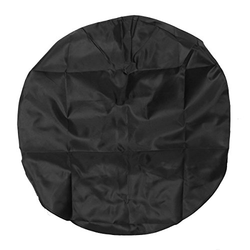 "Ducklingup Set of 4 Canvas Wheel Tire Covers RV Auto Truck Car Camper Trailer 32"" Diameter Waterproof Tire Protectors (Black)"