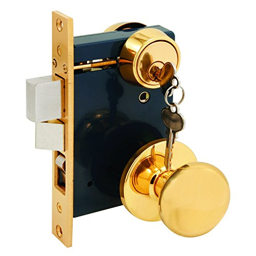 Segal SE 27580 Wrought Solid Brass Double Cylinder Entrance Mortise Lockset with 2-1/2