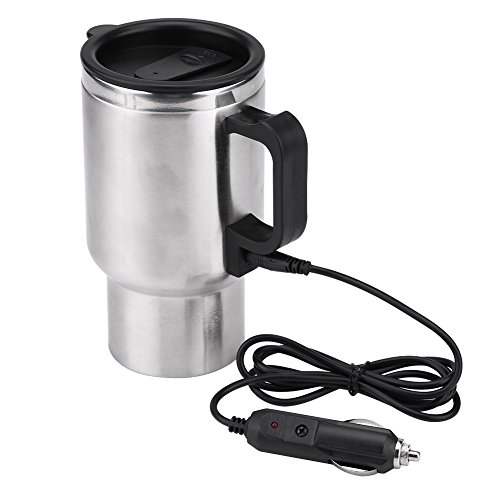 Fdit 12V 450ml Electric in-car Stainless Steel Travel Heatin