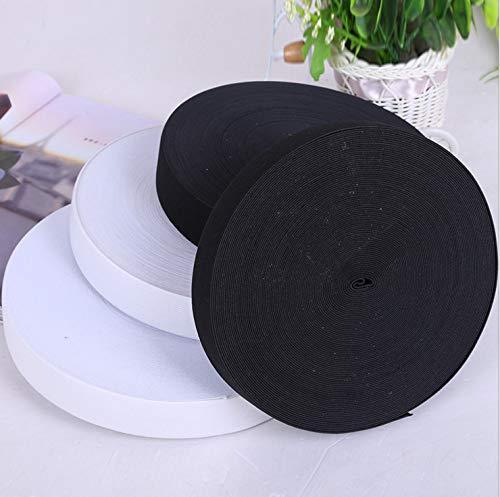 FidgetKute 1/5/20 Yards Size 5 cm Knitted Elastic Black/White Crafts Sewing Trim White 20 Yards by FidgetKute