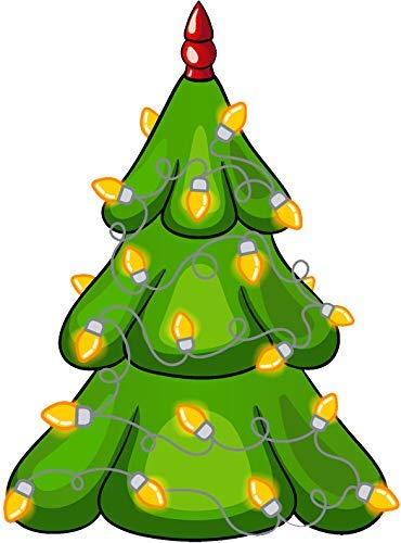 Tall Christmas Tree Cartoon.Amazon Com Bw Mag Magnet Cute Holiday Christmas Element