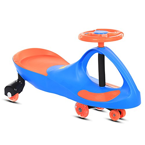 wist Car 1-3-6 Years Old Boys Girls Child Baby Universal Wheel Swing Slippery Scooter Silent Kids Shake Balance (Color : Blue) ()