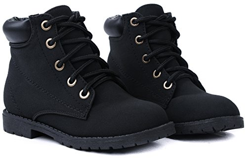 5fdd81db088 Bade Kids Girls Combat Military Lace Up High Top Ankle Boots - Buy ...
