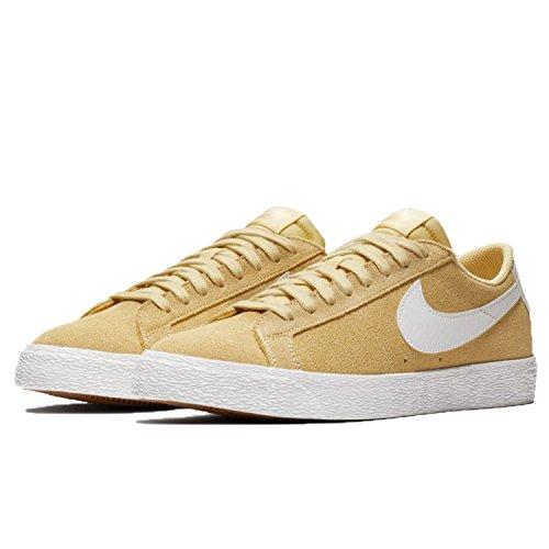 Nike Mens Sb Zoom Blazer Lage Skate Schoen Citroen Wassen / Top Wit