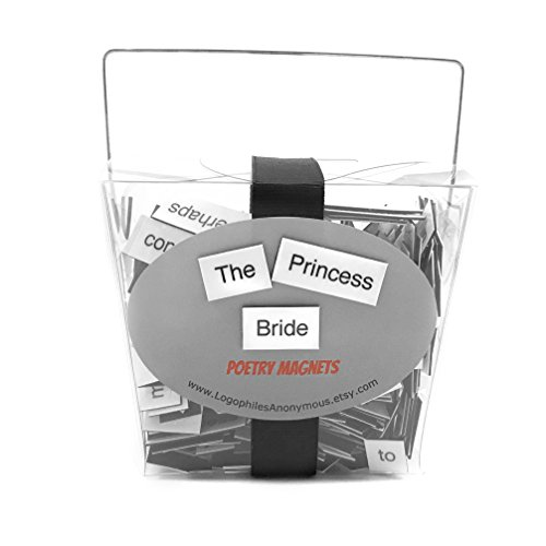 The Princess Bride Magnetic Poetry / Fridge Magnets / Princess Bride Quotes / As You Wish / Inigo Montoya / Inconceivable / Princess Bride Gift / Princess Buttercup / Marriage / Westley and Buttercup
