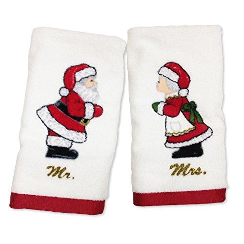 (Lenox Mr. and Mrs. Claus Printed Fingertip Towel Set)