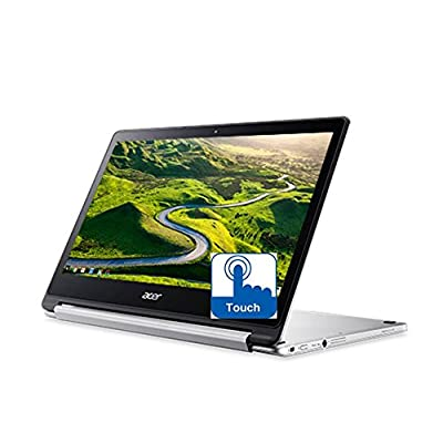 Image of 2017 Acer R13 13.3in Convertible 2-in-1 Full HD IPS Touchscreen Chromebook - MediaTek Quad-core 2.1GHz, 4GB RAM, 32GB SSD, PowerVR GX6250, 12Hr Battery Life, Chrome OS (Renewed) 2 in 1 Laptops