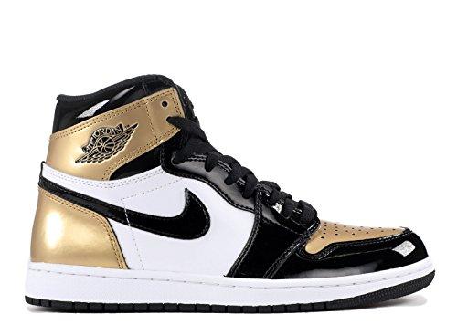 Nike Heren Air Jordan 1 Retro Hoog Og Nrg Top 3 Zwart / Metallic Goud Leer Maat 9.5
