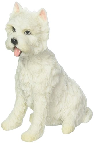 - XoticBrands UNWU76871AA West Highland White Terrier Sitting-Animal Statue