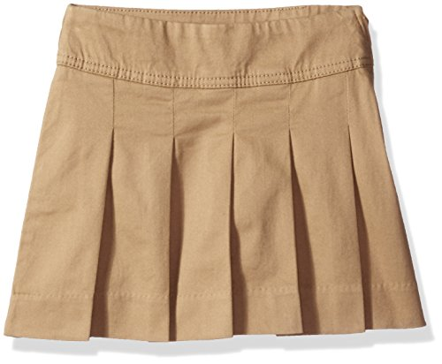 The Children's Place Girls Plus Size' Uniform Skort, Sesame, 8