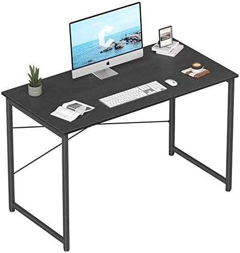 Cubicubi Computer Desk 47″ Home Office Laptop Desk Study Writing Table