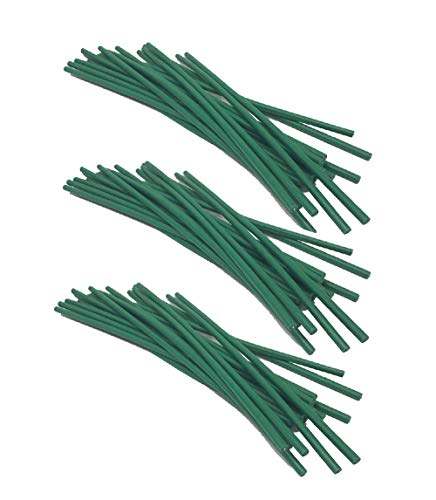 Candy On-line Deal Backyard Plant Twist Tie – Versatile Inexperienced Rubber Coated Bonsai Plant Coaching Wire (60PC)