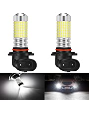 KaTur H4 9003 HB2 LED Fog Light Bulbs Max 80W Super Bright 3000 Lumens 6500K Xenon White with Projector for Driving Daytime Running Lights DRL or Fog Lights,12V -24V (Pack of 2)