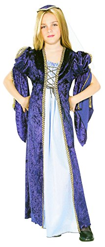 Rubies Renaissance Faire Juliet Child Costume, Large, One Color (Renaissance Halloween Costume)