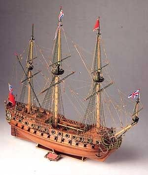 17th Century Warship (Corel S.R.L H.M.S. Neptune: Late 17th Century Warship Modeling Kit)