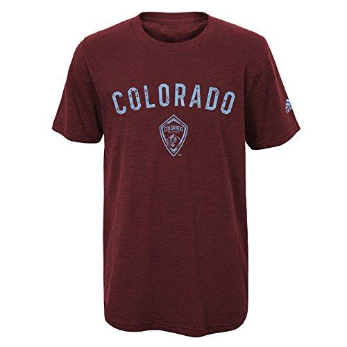 fan products of MLS Colorado Rapids Boys City Worn Short Sleeve Slub Tee, Burgundy, Large (7)
